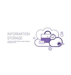 information storage database cloud technology vector image