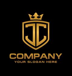 jc logo vector image