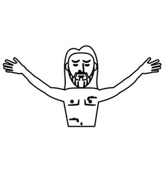 Jesus christ resurrection symbol outline vector