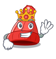 King beanie hat isolated on the mascot vector