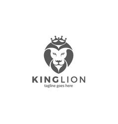 lion with crown emblem vector image