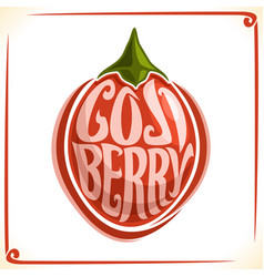 Logo for goji berry vector
