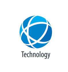 logo technology vector image