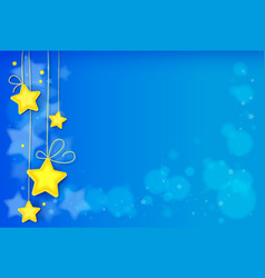 magic stars abstract background vector image
