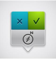 Map navigation pointer vector image