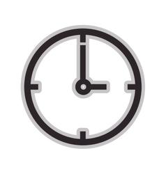 Minimalistic clock icon vector