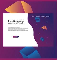 modern trendy landing page vector image