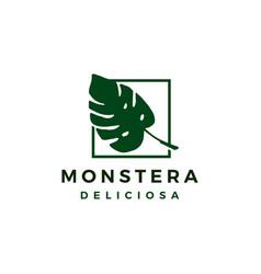 monstera deliciosa logo icon vector image