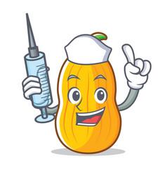 Nurse butternut squash character cartoon vector