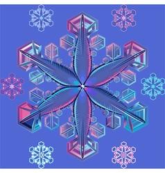 pastel snowflake vector image