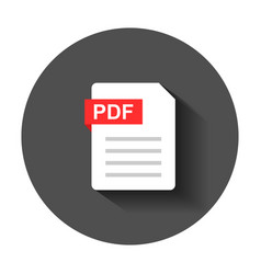 pdf document note icon in flat style paper sheet vector image