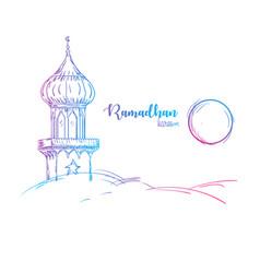ramadhan hand drawing vector image