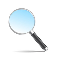 realistic magnifier magnifying glass vector image