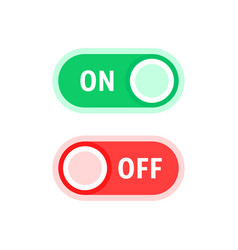 red and green on and off switches vector image