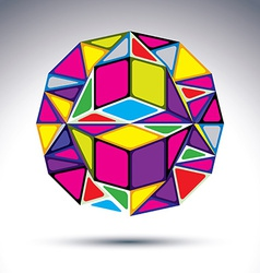Rich 3d abstract fractal figure Dimensional vivid vector