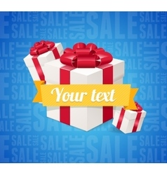 Sale Background Present Boxes vector