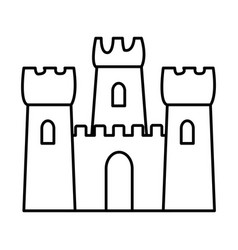 Sand castle icon vector