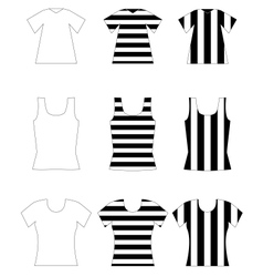 Set of vest shirts vector