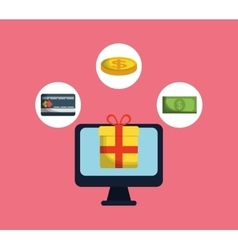 Shopping buy digital marketing vector
