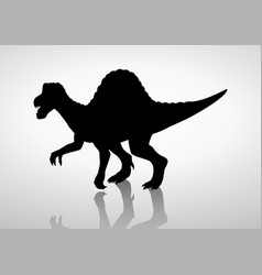 Silhouette of a spinosaurus vector