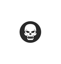 skull devil logo vector image
