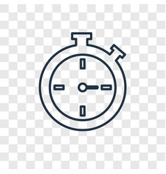 Stopwatch concept linear icon isolated on vector