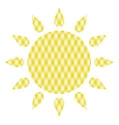 symbol of sun vector image