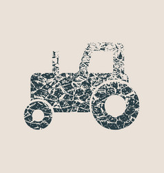 Tractor icon simple vector