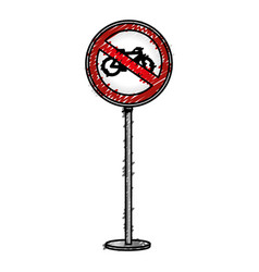 Traffic signal bicycles forbidden vector