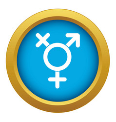 Transgender sign icon blue isolated vector