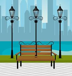 Urban park design vector image