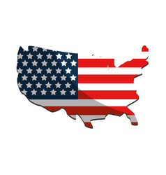 Usa flag symbol and geography map vector