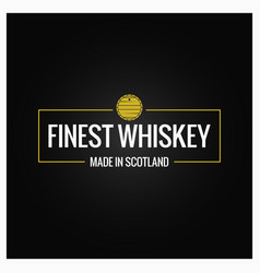 Whiskey quality logo design background vector