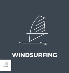 Windsurfing icon vector