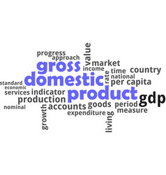 word cloud - gross domestic product vector image