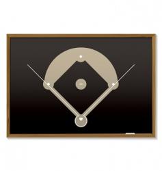 baseball blackboard vector image vector image