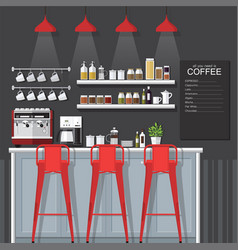 coffee bar vector image vector image