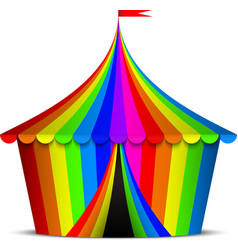 colorful circus tent vector image vector image