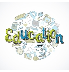 Education icon doodle vector image vector image
