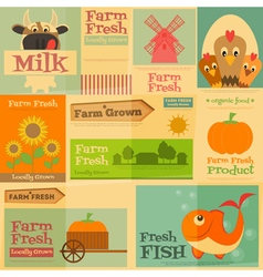 farm posters vector image vector image