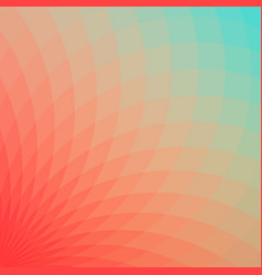 red and blue geometric flower vector image