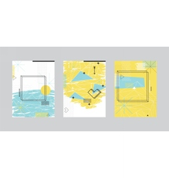Set of cards with abstract geometric design vector image vector image