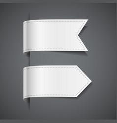set of white decorative ribbons vector image