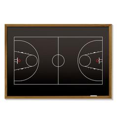 basketball blackboard vector image vector image