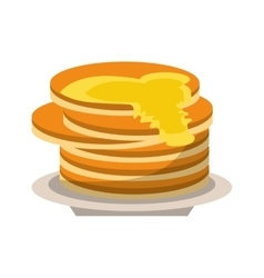 delicious pancakes maple syrup vector image