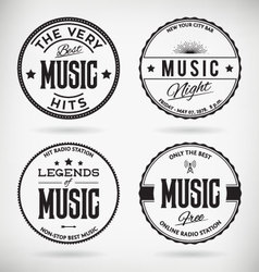 Music Badges vector image