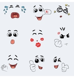 Set of cute emotion vector image vector image