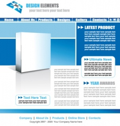 web site elegant template vector image vector image