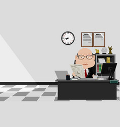 a businessman is busy in his office vector image