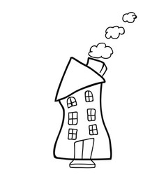 house doodle black vector image vector image